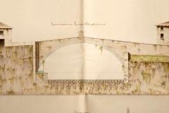 Il ponte sul fiume Toscolano in un disegno dell'ing. Giovanni Zanardelli (1828)